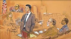 Sketch of JM on Trial